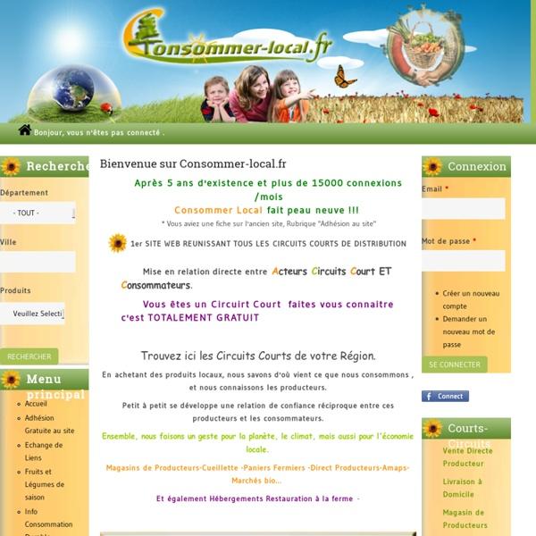 Consommer-local.fr - Les Acteurs des Circuits Courts de Distribution