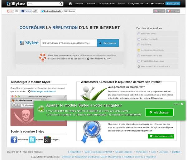 Http://slytee.com/fr/ - Vérifier la réputation d'un site