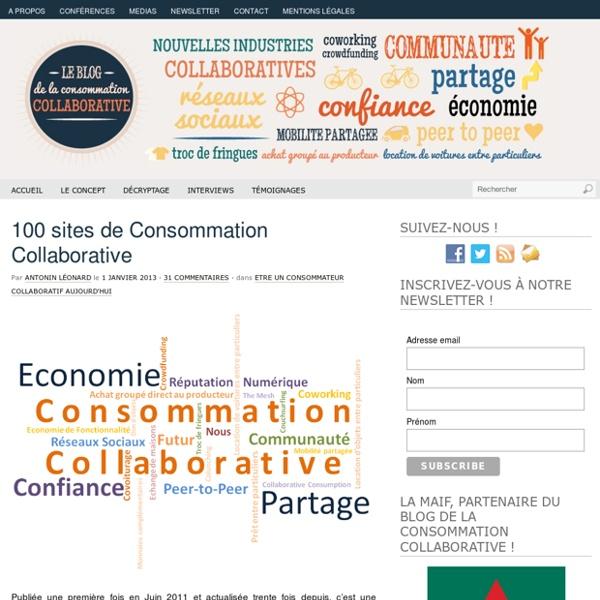 100 sites de consommation collaborative