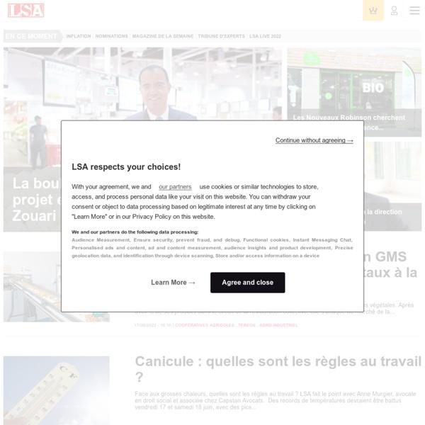 LSA - actualité consommation des ménages et grande distribution en France