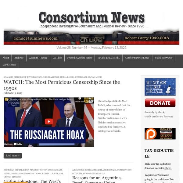 Consortiumnews – Independent Investigative Journalism Since 1995