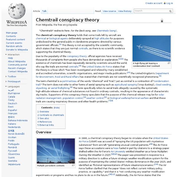 Chemtrail conspiracy theory
