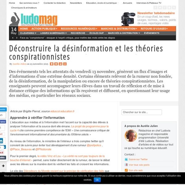 Déconstruire la désinformation et les théories conspirationnistes