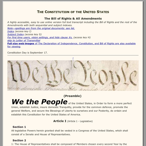 THE UNITED STATES CONSTITUTION - We the People