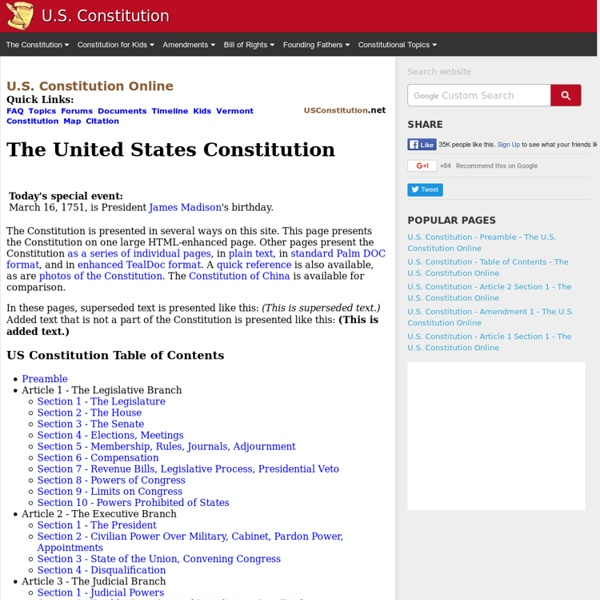 State Constitutions vs. The United States Constitution