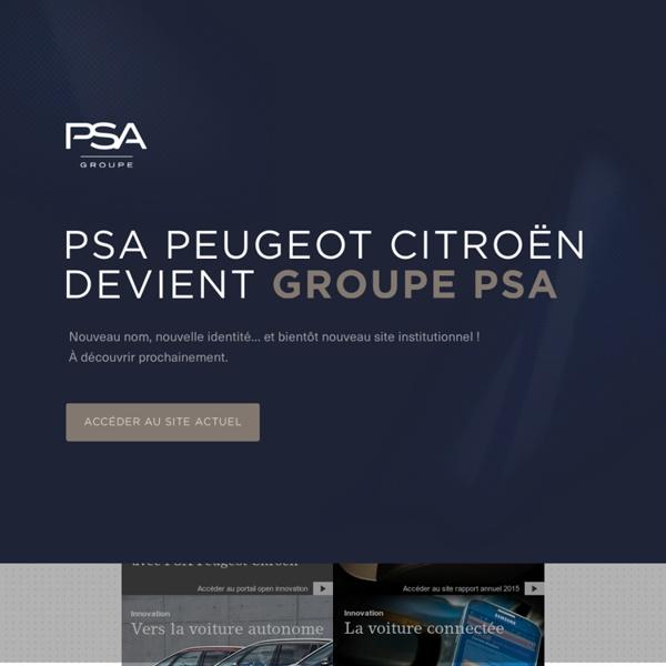Constructeur automobile français, PSA Peugeot Citroën