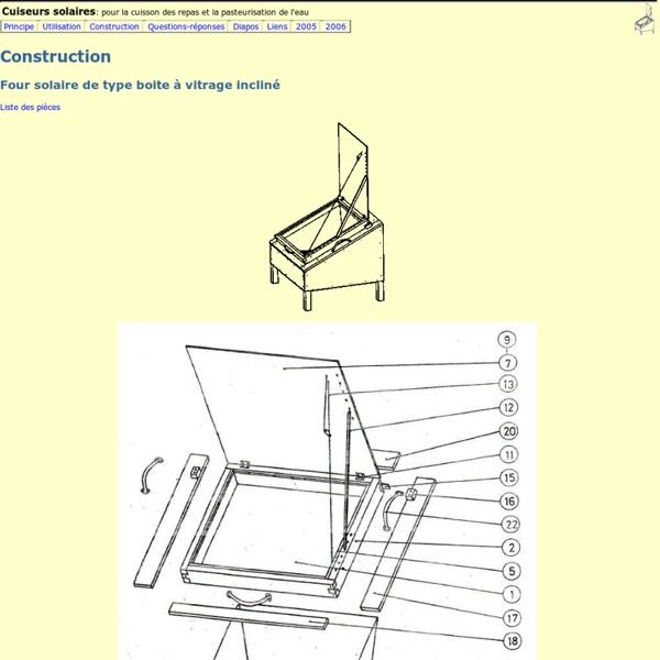 Construction de cuiseurs solaires
