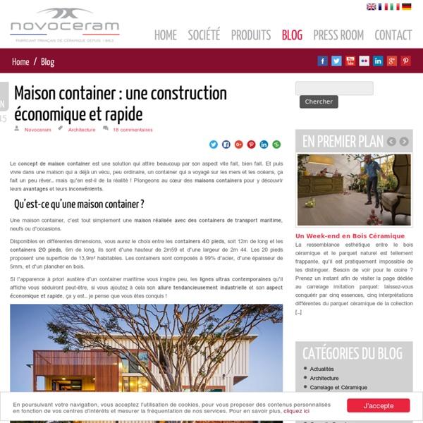 Maison container - Une construction économique et tendance