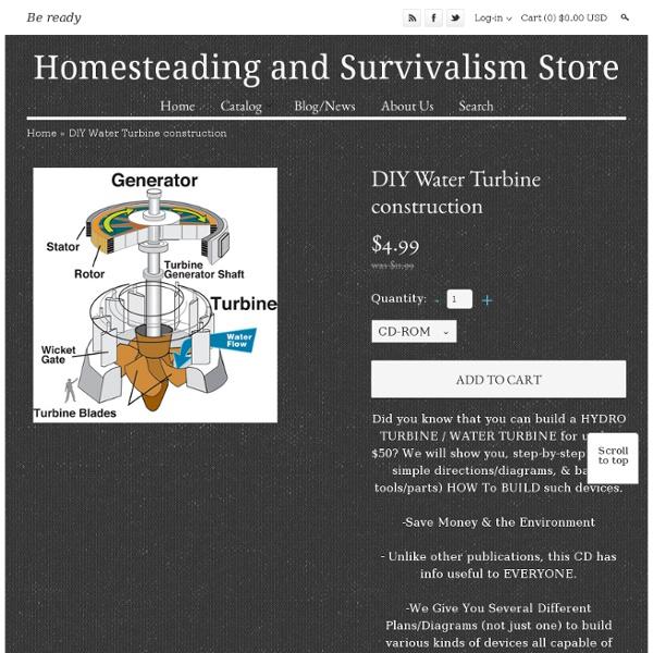 DIY Water Turbine construction by HomesteadingSurvivalism