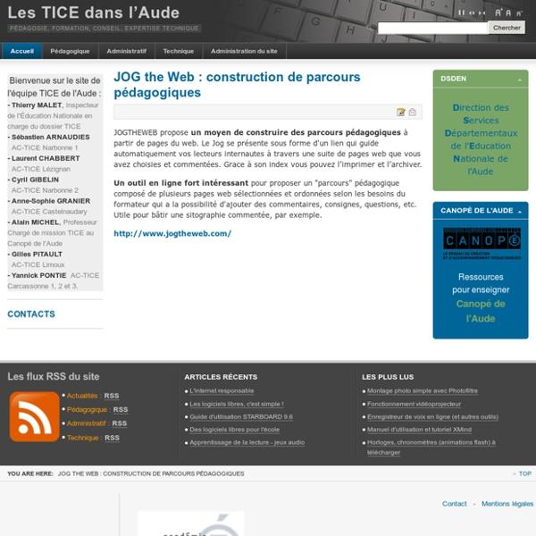 JOG the Web : construction de parcours pédagogiques