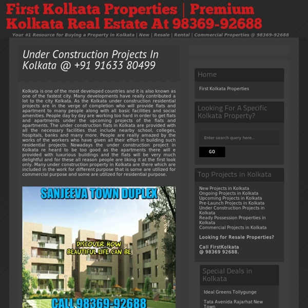 Under Construction Flats In Kolkata