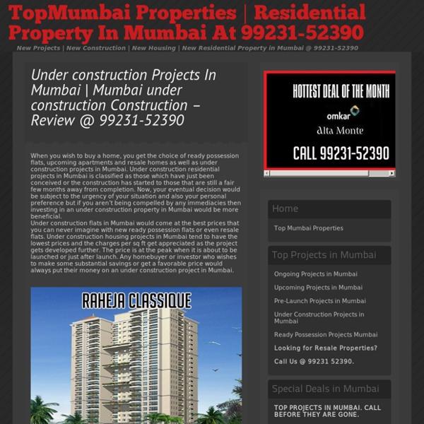 Under Construction Property In Mumbai