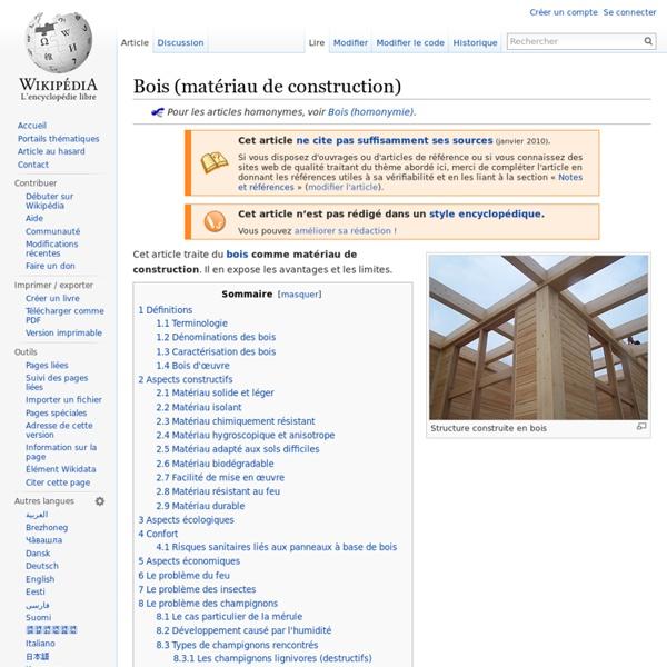 Bois (matériau de construction)