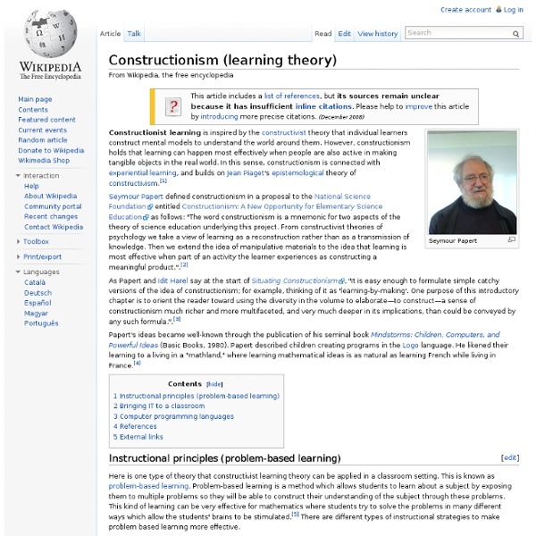 Constructionism (learning theory)