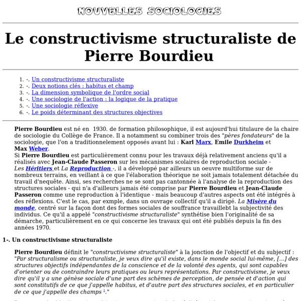 Le constructivisme structuraliste