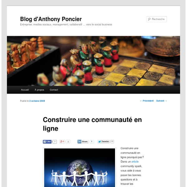 Construire une communauté en ligne