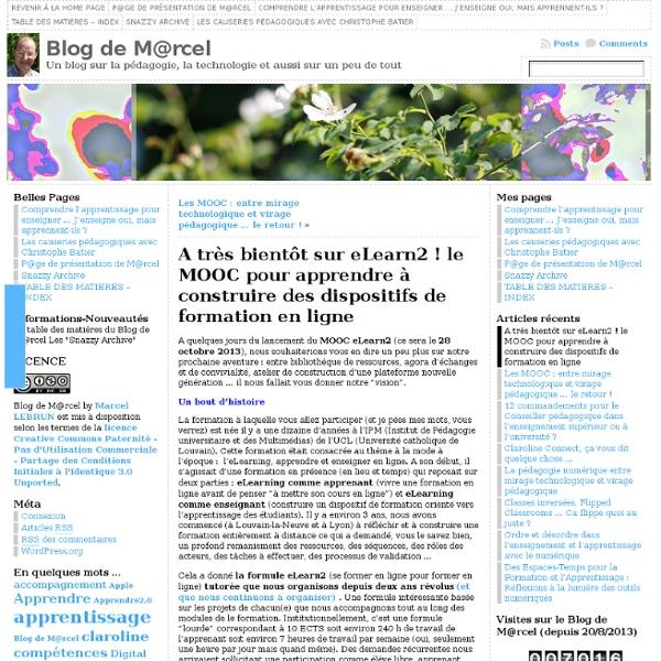 A très bientôt sur eLearn2 : le MOOC pour apprendre à construire des dispositifs de formation en ligne