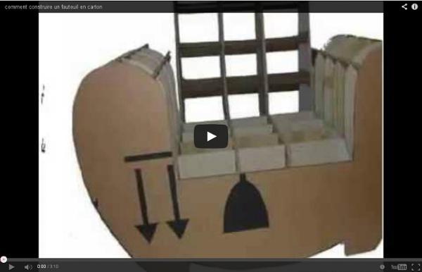 vid o comment construire un fauteuil en carton pearltrees. Black Bedroom Furniture Sets. Home Design Ideas