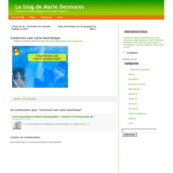 Le blog de Marie Desmares » Archive du blog » Construire une carte heuristique