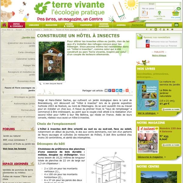construire un h tel insectes pearltrees. Black Bedroom Furniture Sets. Home Design Ideas