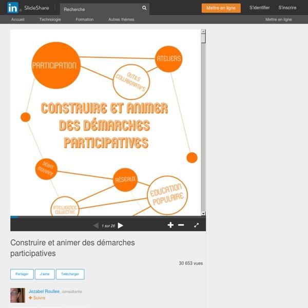 Construire et animer des démarches participatives