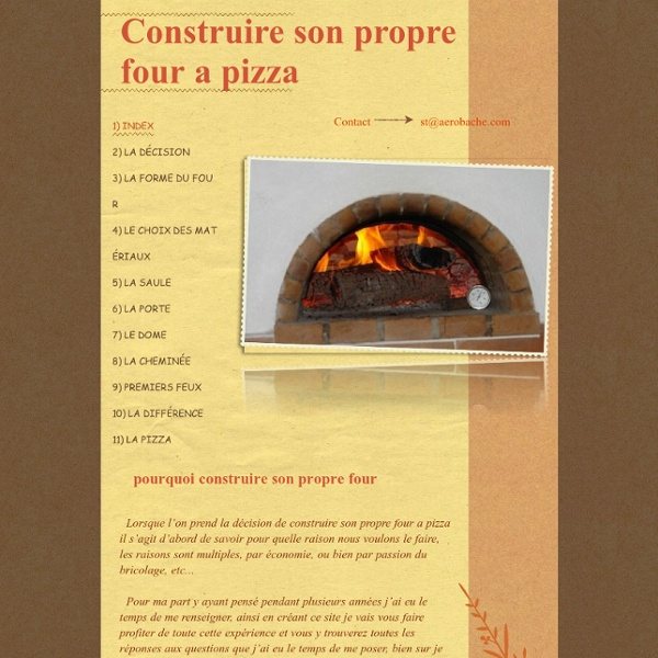 Construire son propre four a pizza