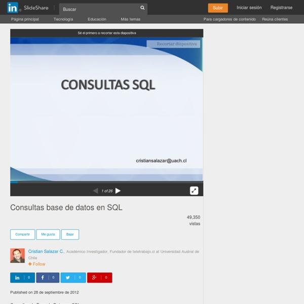 Consultas base de datos en SQL