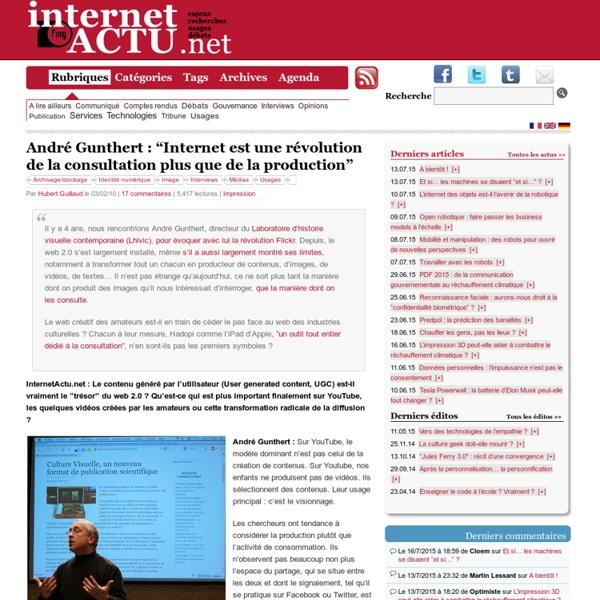 """André Gunthert : """"Internet est une révolution de la consultation plus que de la production"""""""