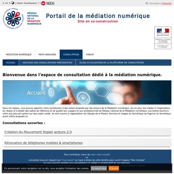 Consultation médiation numérique
