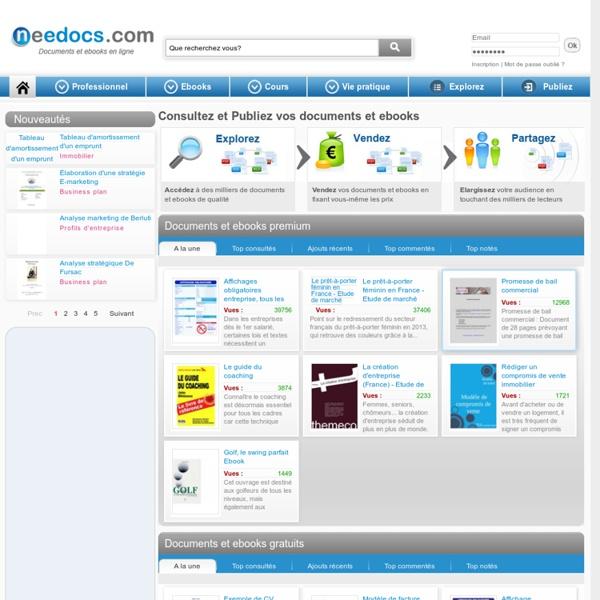 Needocs : consultez des milliers de documents et ebooks