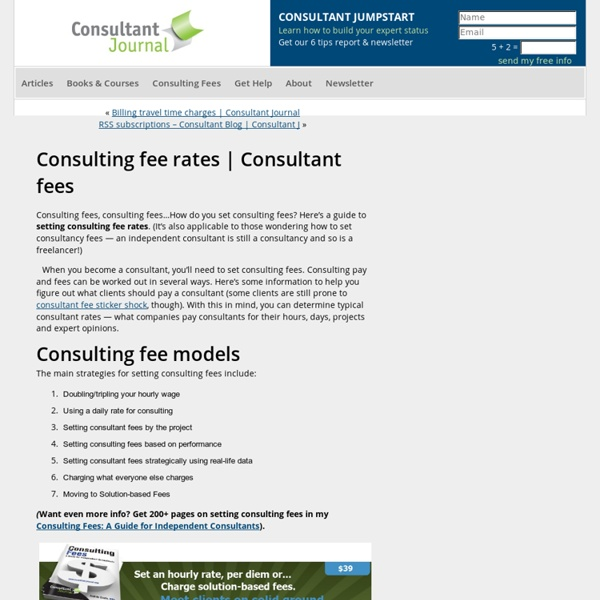 consulting fee rates