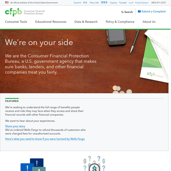 CFPB > Consumer Financial Protection Bureau
