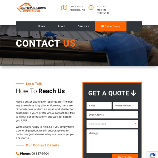 Contact Us — Gutter Cleaning Auckland