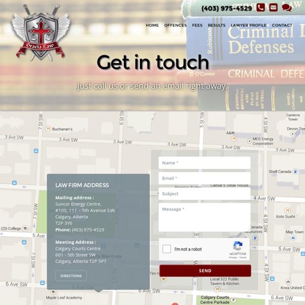 Contact Paul Gracia Experience Criminal Lawyer - Calgary