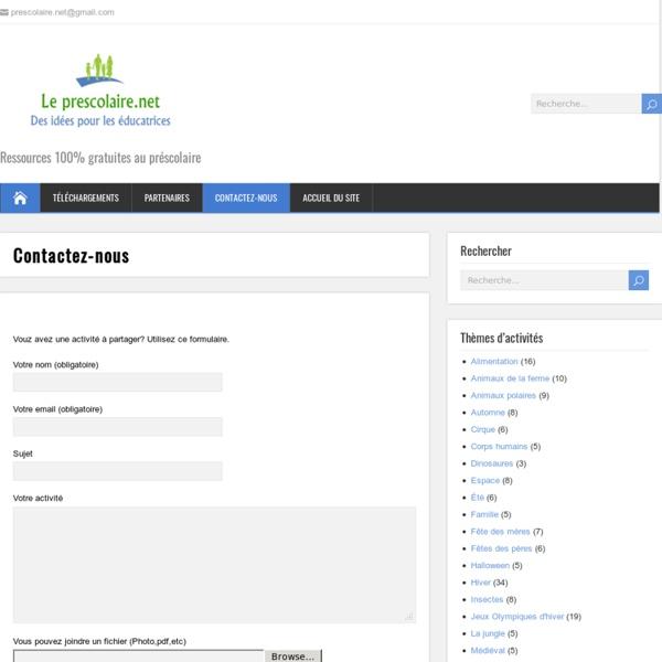 Le Prescolaire.net, Activités, bricolages pour enfants