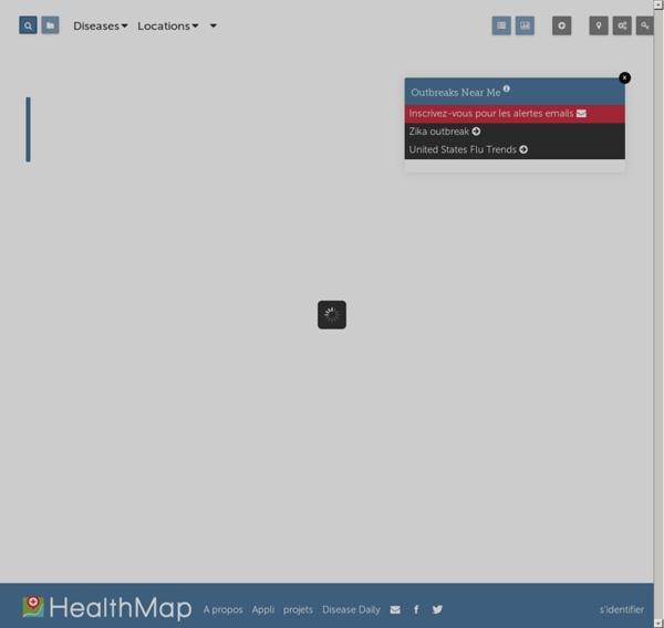 Carte mondiale d'alertes épidémiques