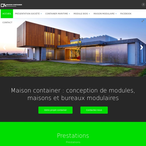 Maison container construction de maison modulaire for Amenager un container