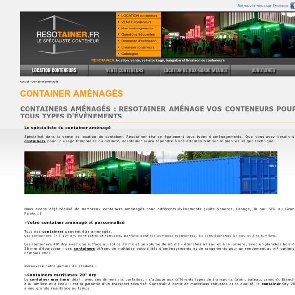 Containers aménagés, location vente de containers - Resotainer - Container aménagés