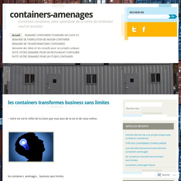 Containers occasions votre sp cialiste de la vente de for Acheter un container habitable