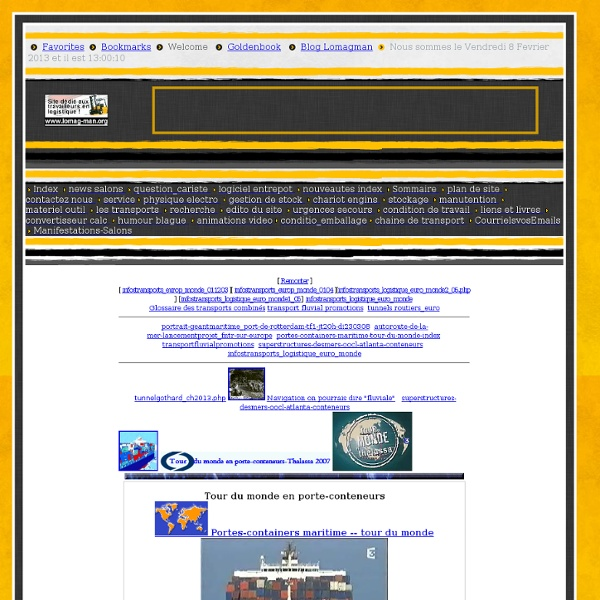 Transport : maritime portuaire : portes-containersmaritime : portes-containers-maritime-tour-du-monde-index