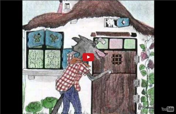Conte pour enfants : Le loup et les 7 biquets