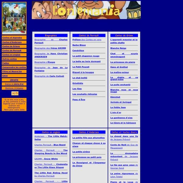 Contemania.com - contes, fables, histoires, comptines - texte intégral gratuit