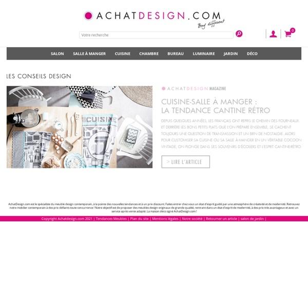 Mobilier et meuble design contemporain, à la pointe des nouvelles tendances et à un prix discount