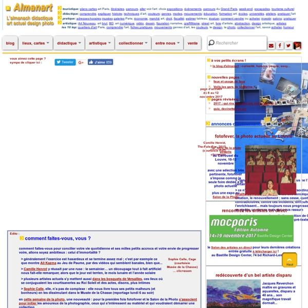 Almanach de l'art moderne et de l'art contemporain - L'actualité de l'art à Paris