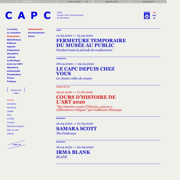 CAPC musée d'art contemporain de Bordeaux - Site officiel