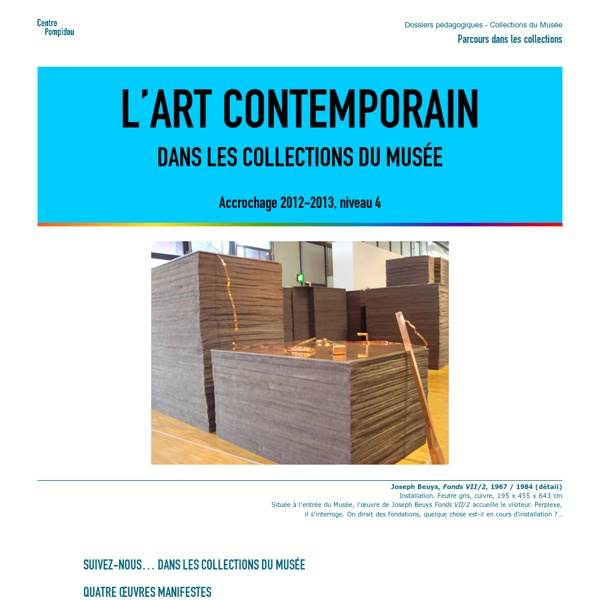 L'art contemporain dans les collections du Musée