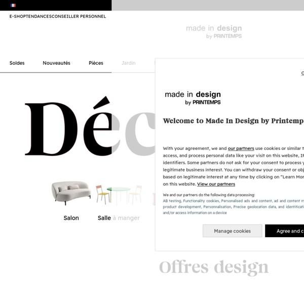 Made In Design : Mobilier Contemporain, Luminaire et Décoration tendance pour maison et jardin