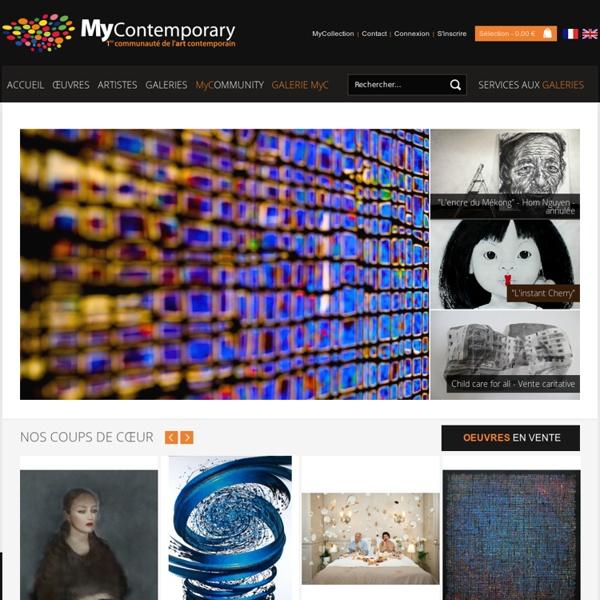 Portail art contemporain, artistes, galeries, oeuvres, Communauté MyContemporary