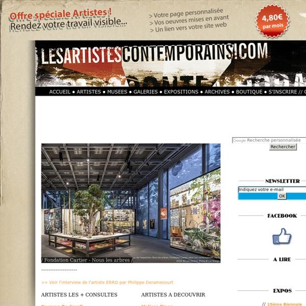 Les Artistes Contemporains, Webzine dédié l'art contemporain