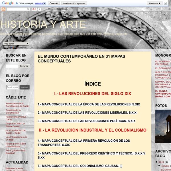 EL MUNDO CONTEMPORÁNEO EN 31 MAPAS CONCEPTUALES